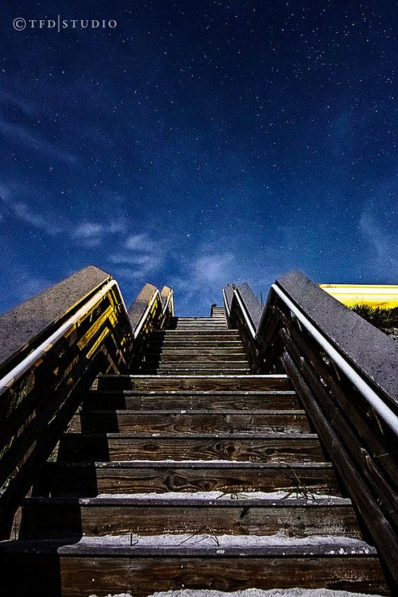 Landscape Photography - Highway 30A, Florida - Stairway to the Stars - Fine Art