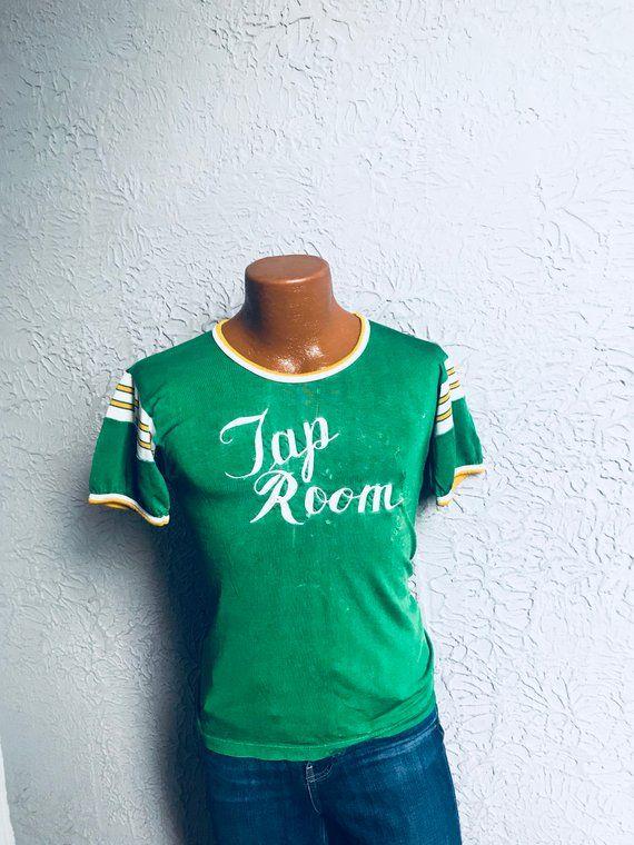 30 S Vintage Rayon Sport Jersey Tap Room Distressed Vintage Shirts Rayon American Vintage