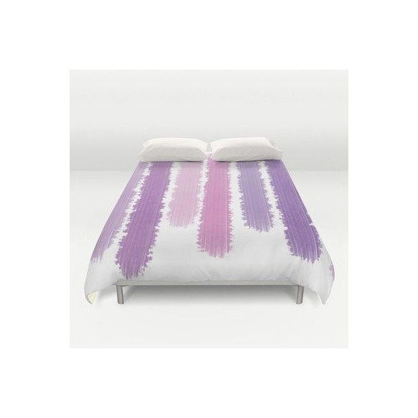 $145.00 Purple Stripes Bed Cover - Duvet Cover Only - Bed Spread -... ❤ liked on Polyvore featuring home, bed & bath, bedding, striped bed linen, striped bedding, purple bedding, purple bed linen and stripe bedding