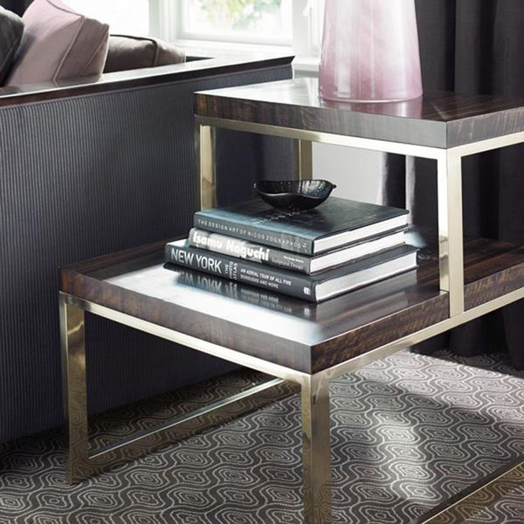 Expand table surface area with a contemporary two tier side table thats as refined as they come