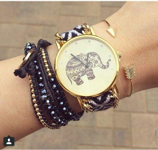 Elephant watch & bracelets  HelloMissApple