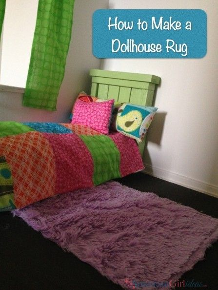 This American Girl Rug is easy to make. I did this with my daughter. She loved it and so did her American Girl Doll. It is so soft and fuzzy!