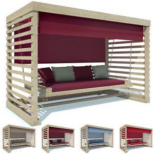 Details Zu Hollywoodschaukel Tiffany Aus Holz Gartenschaukel Schaukel  Gartenmöbel 4 Sitzer