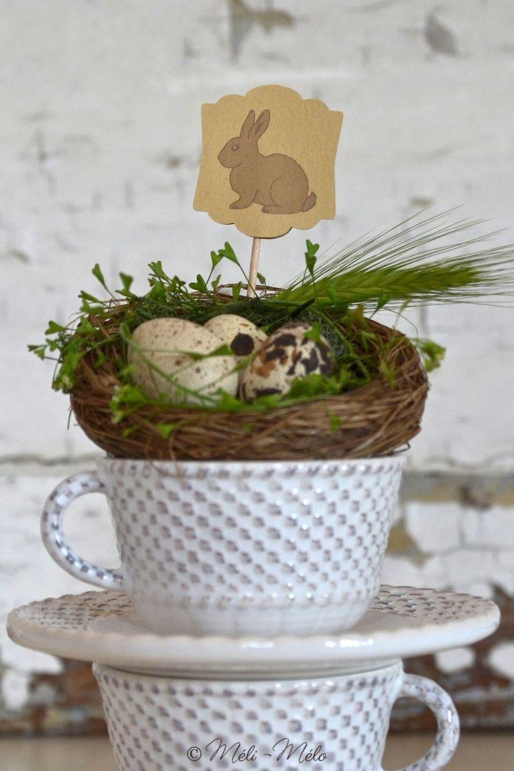 Bandierina pasquale - Petit drapeau de Pâques - Easter bunny flag by Méli-Mélo Graphic Design - Ph: Clelia Celentano