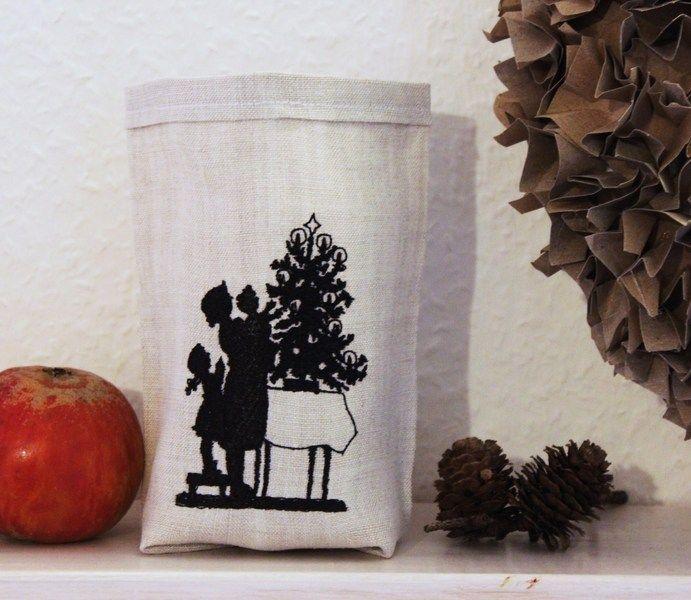 """Stickdateien - Stickdatei """"Weihnachten auf dem Tisch...."""" - ein Designerstück von FeinKram bei DaWanda"""