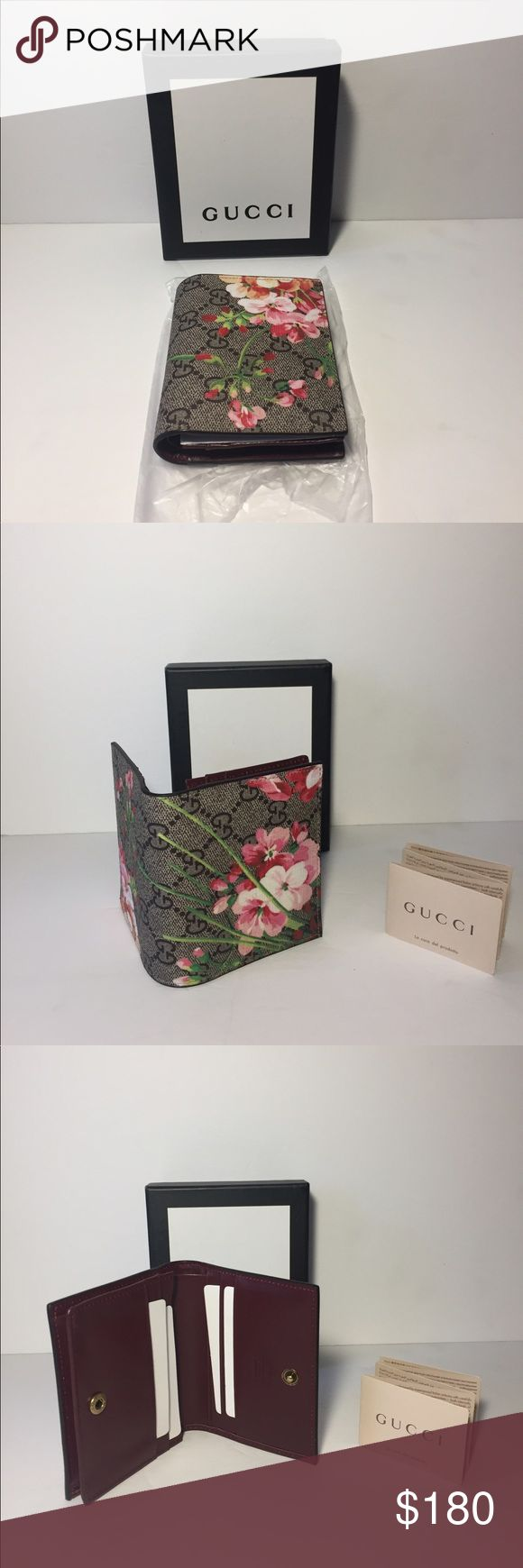 Gucci Blooms Wallet Authentic Gucci GG Supreme Wallet. New. Comes with box Gucci Bags Wallets