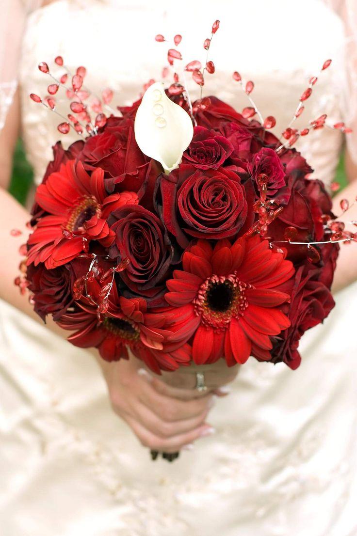 Bridal bouquet roses & gerberas  – Brautsträuße