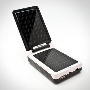 AA and AAA Solar Battery Charger - Charge Your Batteries Via USB or Sun Power - Features Also Include a Battery Tester and USB Output for Charging Cell Phones, iPods/mp3s, and More