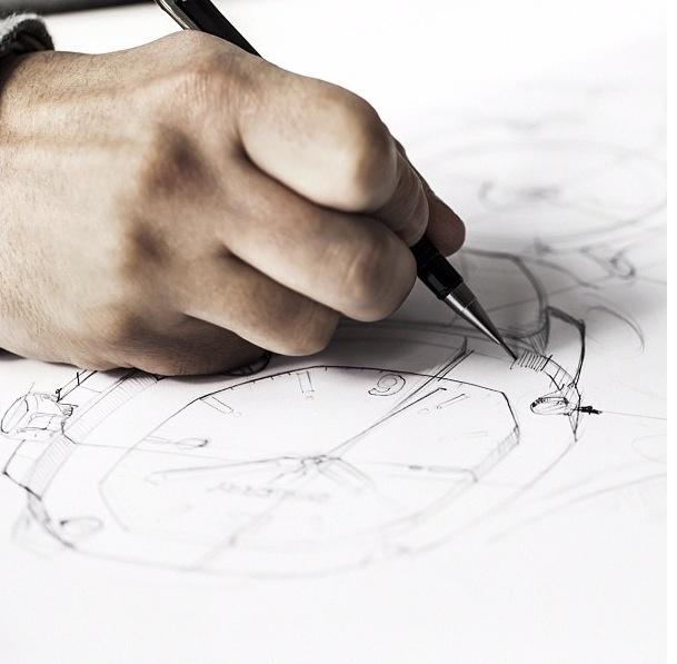 Burberry watch sketch