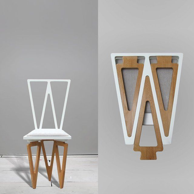 Fancy | Triangle Solid Wood Folding Chair