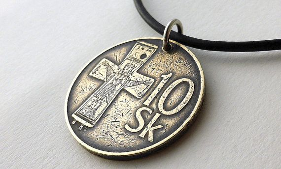 Hey, I found this really awesome Etsy listing at https://www.etsy.com/listing/258520874/slovakian-coin-necklace-gothic-necklace