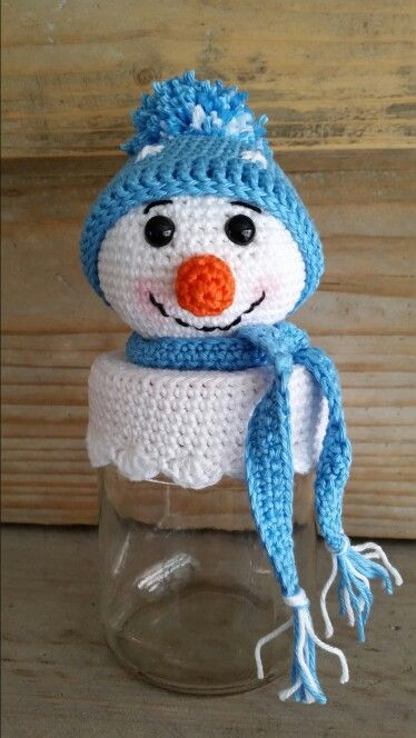 Sneeuwpop deksel (nagemaakt van BizzyBeeKlaske)