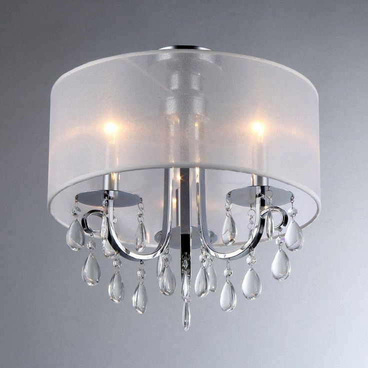 Warehouse of tiffany muses 3 light chrome chandelier with shade