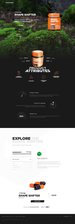 Cognizance Shape Shifter. #webdesign #design (View more at www.aldenchong.com)