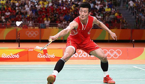 Long Chen, Kina vann guldet i herrarnas singel badminton, silver Chong Wei Lee, Malaysia, brons Viktor Axelsen, Danmark.