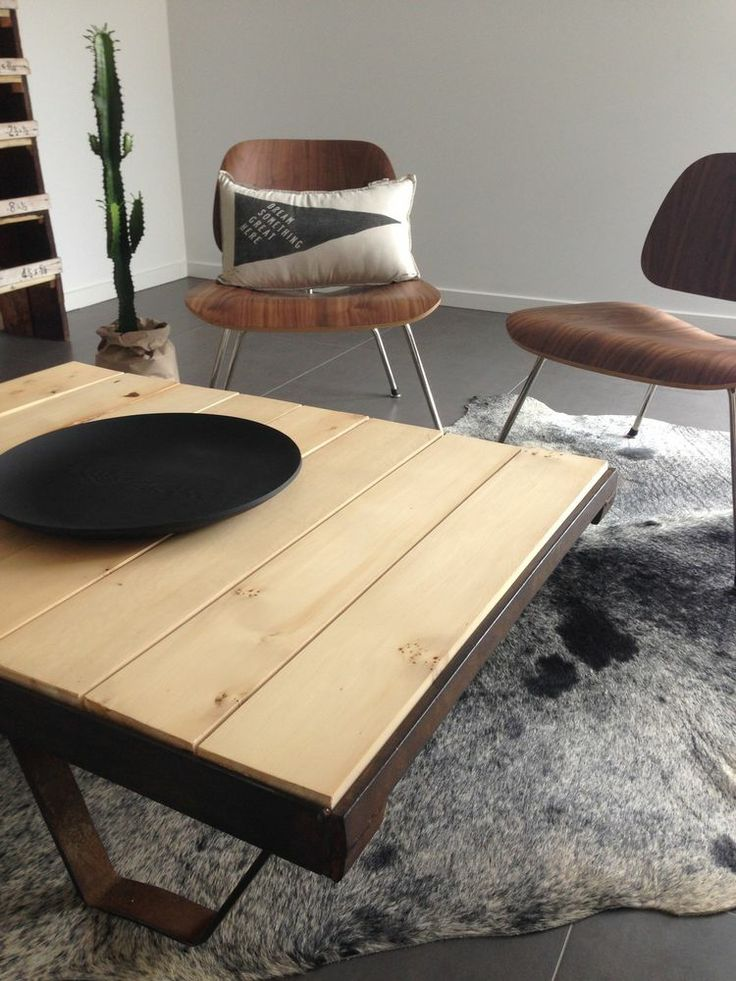 Industrial Table with a Huon Pine top