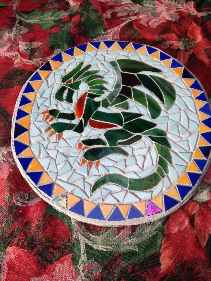 Kerry's dragon mosaic