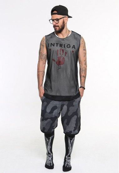 intriga net  #vagrancylifestyle #handmade #top #man #sleeveless #tshirt