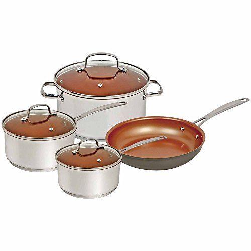 Nuwave Duralon Ceramic Nonstick 7 Pc. Cookware Set – Tonys Cookware Store