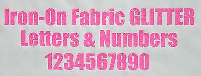 Iron-on glitter letters & #numbers neon pink + free #rhinestones - #impact font,  View more on the LINK: http://www.zeppy.io/product/gb/2/131873912892/