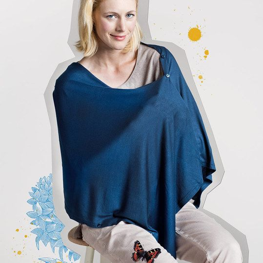 Stilltuch Nursing Cover - könnte man sich leicht selber machen mit einem alten hemd...
