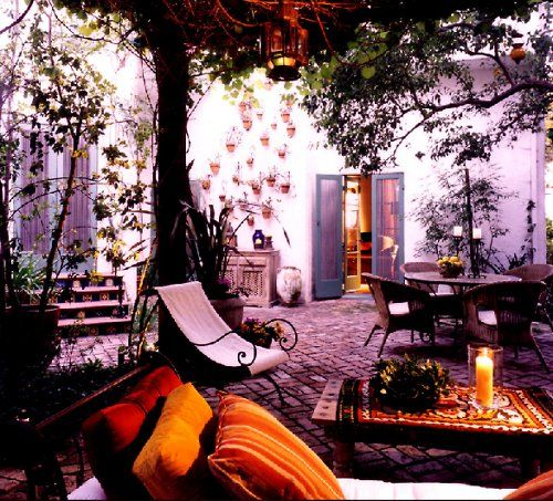 My dream courtyard!!!!!: Outdoor Rooms, Outdoor Living Spaces, Patio, Backyard, Places, Spanish Style, Bohemian Style, Outdoor Spaces, Courtyards