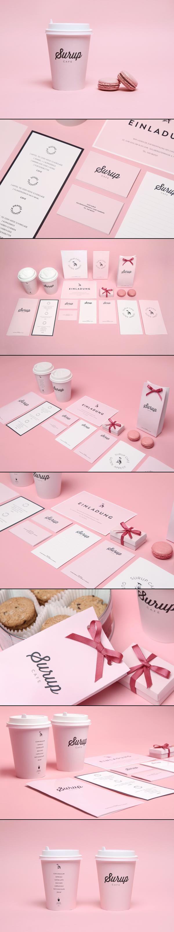 Surup Café // Feminine Pink Branding / Eye Candy // Vintage meets Modern Logo and Typography