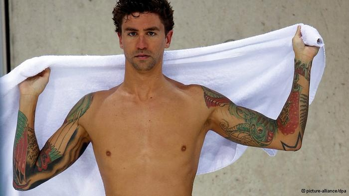 Anthony Ervin of the USA. Not only hid tat, but his story is interesting.