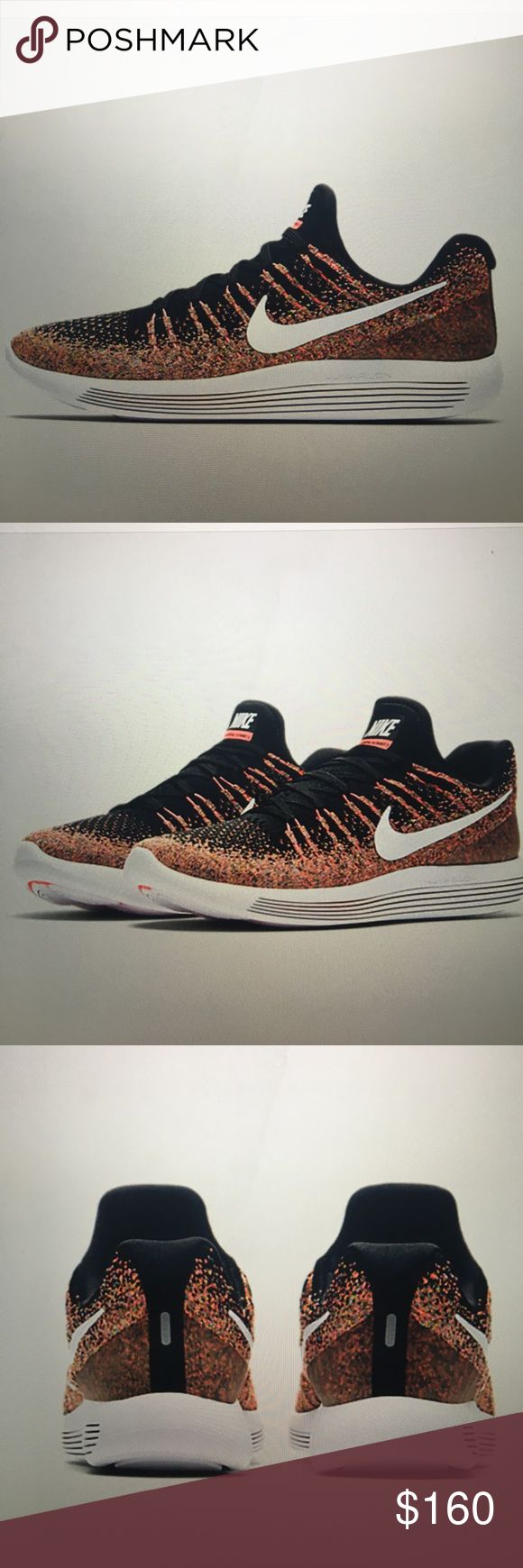Nike LunarEpic Low Flyknit 2 Brand new still in box. Hot punch/black/white multicolor design Nike Shoes