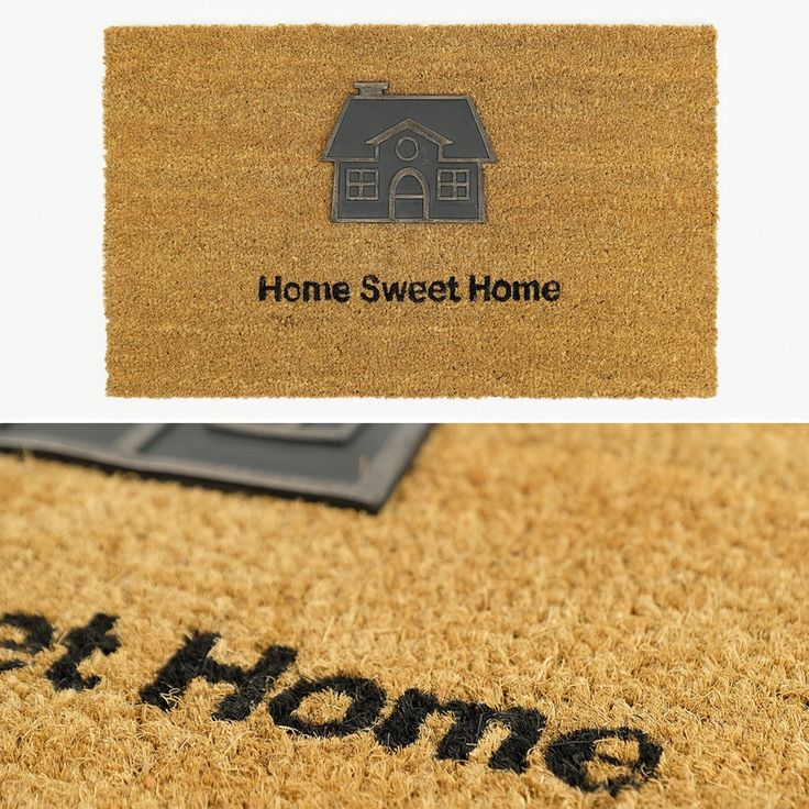 Tapete de Entrada Home Sweet Home 45 x 75 cm   A Loja do Gato Preto   #alojadogatopreto   #shoponline   referência 114668760