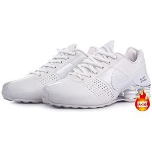 white nike shox deliver