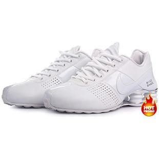 white nike shox deliver