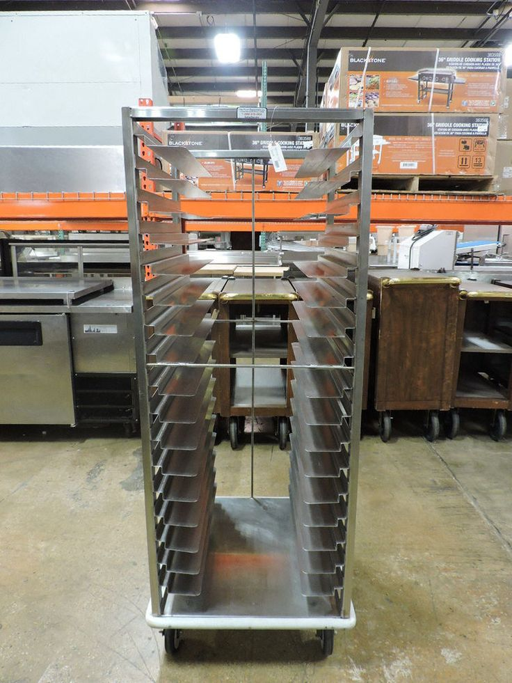 Commercial Stainless Steel Channel Slide Bun Pan Rack