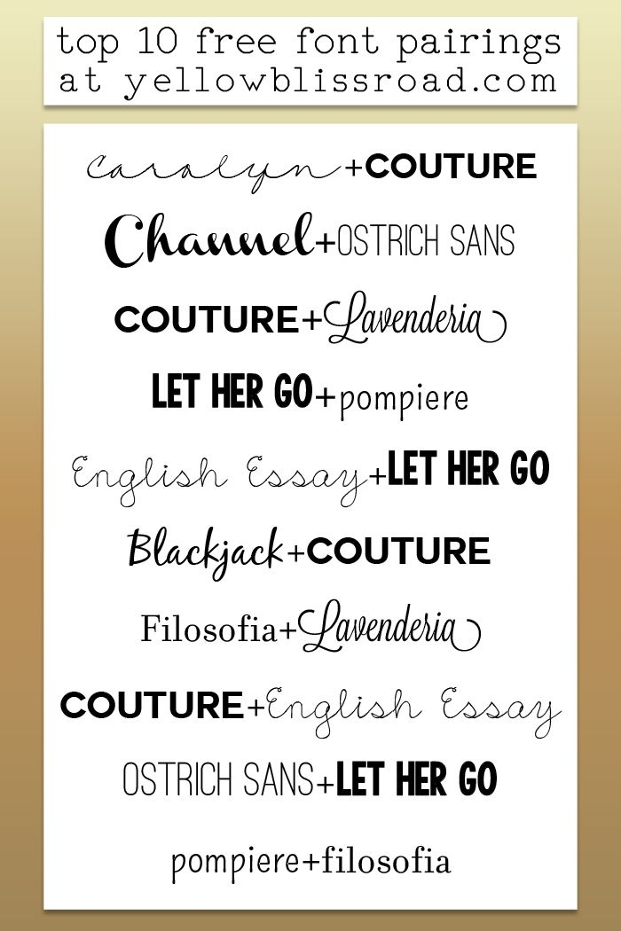 Top Ten Most Used Free Fonts July 13, 2014 by Kristin 1 Comment