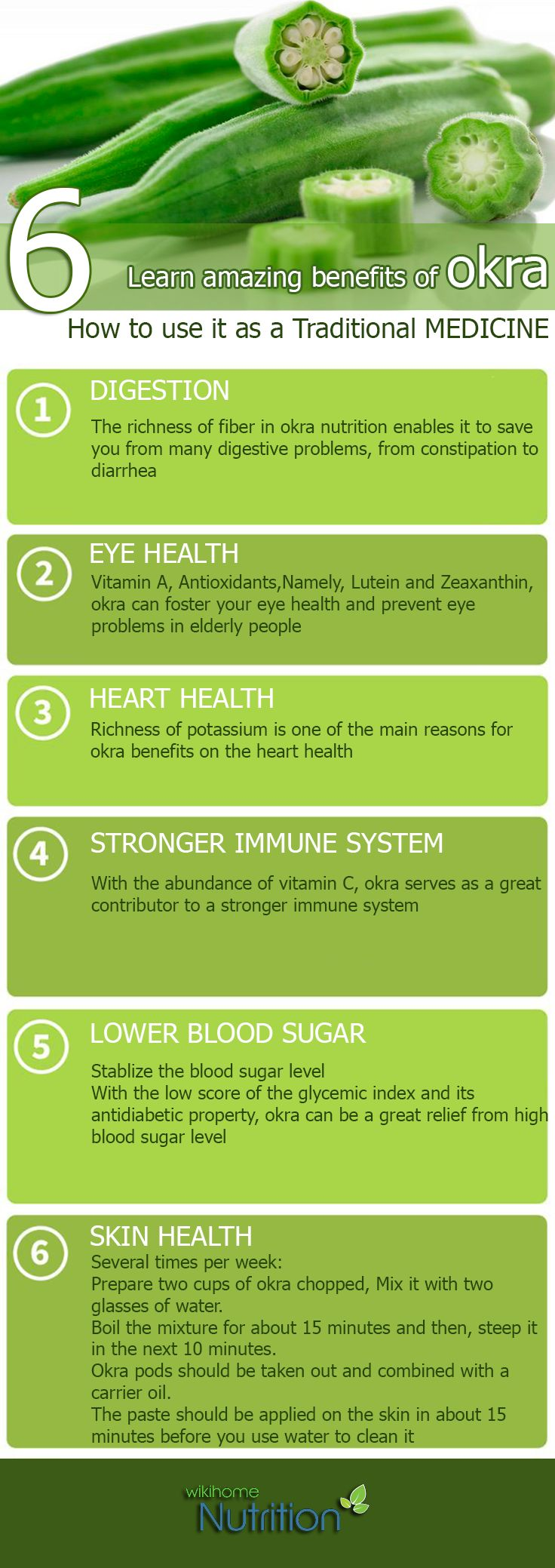 Health Benefits of Okra:is actually a star among herbal medicine :#Digestion #Eyes #Skin health #Immunity # Lower Blood Sugar #Heart Health