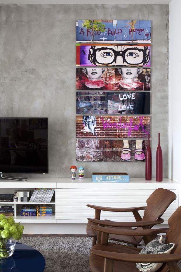 Apartamento alugado com personalidade (Foto: Denílson Machado, MCA Estúdio…