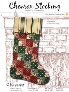 Quilted Christmas Stocking Patterns | Free Quilt Pattern: Holiday Lights Christmas Stocking from EZ