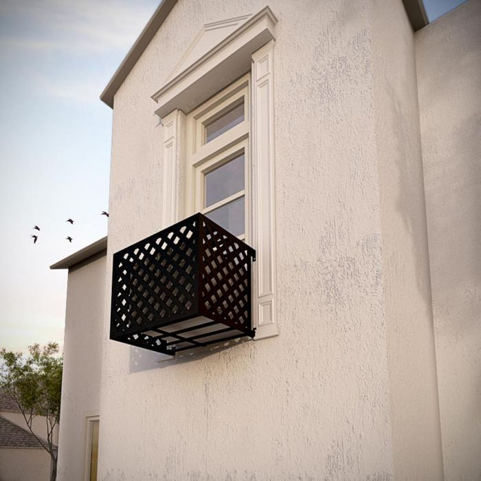 Wrought Iron Air Conditioner Cages By Hooks Lattice Window Air Conditioner Window Air Conditioner Cover Air Conditioning Cover