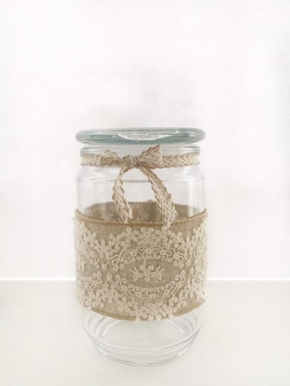 Shabby Chic Gl Jar Cottage