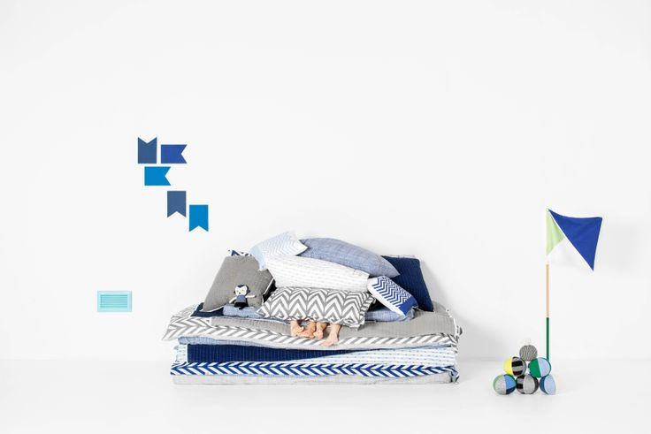 SCOUT Kids 2014 - Styled image Oslo Chevron Duvet Navy  www.scoutlifestyle.com Stylist/Photo credits: Marsha Golemac and Brooke Holm