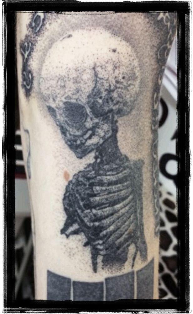 Skeleton Baby Dotwork