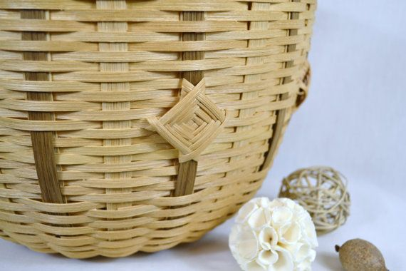 Wicker or Reed Round Table Basket with God's by BrightExpectations, $50.00