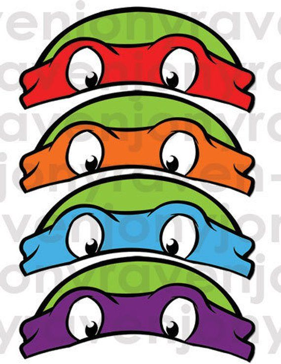 image relating to Printable Ninja Turtle Mask Template named Pin upon Solutions