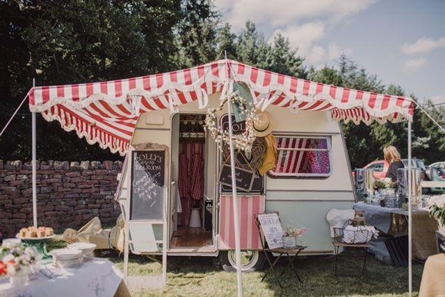 Vintage, fully renovated 1973 Thompson Mini Glen 2 Caravan + Tea Room Business