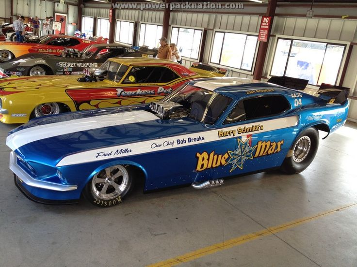 We love vintage Funny Cars, like the Blue Max #Mustang flopper www.powerpacknation.com