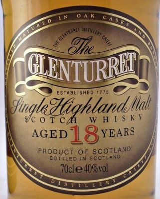 Glenturret 18 year old Scotch Whisky 40% 70cl - Highland Region - The Specialist Whisky Shop | whiskys.co.uk