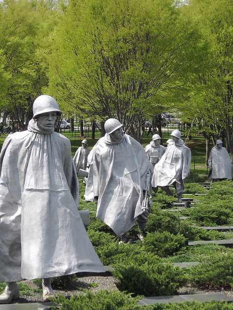 Korean War Veterans Memorial- At whatever point you stand in the memorial, one of the soldiers will always be looking at you.