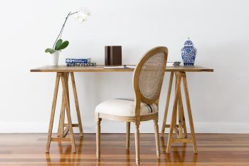 Collections By Kate - Reclaimed Elm Artists Table