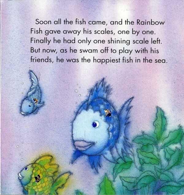 Rainbow fish book children 39 s books pinterest rainbow for Rainbow fish story
