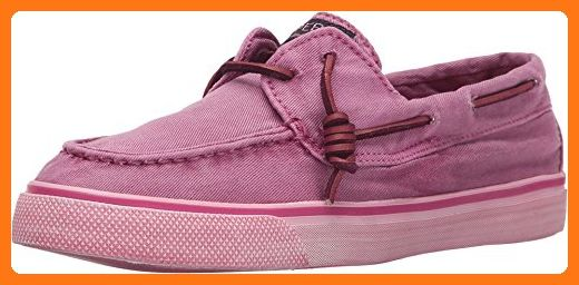 Sperry Top-Sider Women's Bahama Washed Bright Pink Boat Shoe 5 M (B)